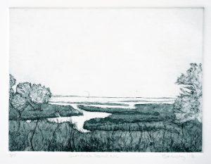Currituck Sound North Carolina art Bridget Murphy Design Printmaking