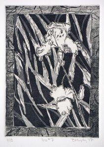 Iris 7 art Bridget Murphy Design Printmaking