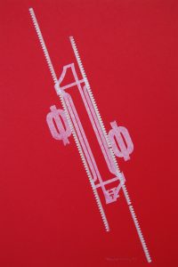 greek angle letterpress Art Bridget Murphy Design Printmaking