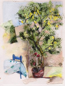 Lemon tree Art Bridget Murphy Design Mixed Media