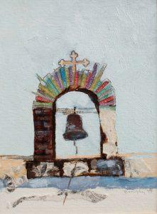 St. Athanasios Bell Tower Art Bridget Murphy Design Mixed Media