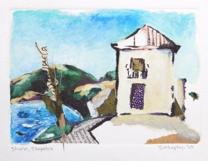 studio Skopelos, Greece Art Bridget Murphy Design Mixed Media