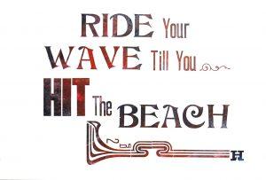 Wave letterpress Art Bridget Murphy Design Printmaking