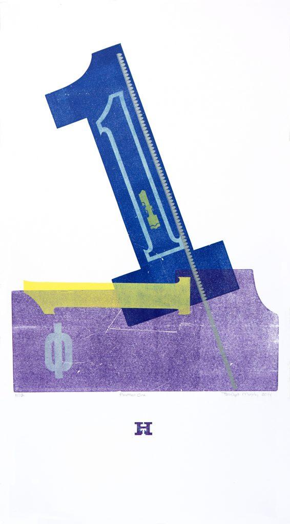 Another One letterpress Art Bridget Murphy Design Printmaking