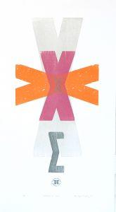 Margos X letterpress Art Bridget Murphy Design Printmaking